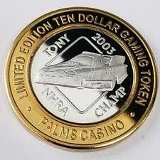 New Listing2006 S Palms Resort Casino .999 Silver Strike $10 Tony Nhra Champ Token 9Pc0638
