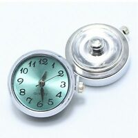 DIY Jewelry Locket Bead Fashion 1PC Chunk For Bracelet Button Clock Watch Snap