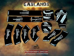 GASLANDS: MOVEMENT TEMPLATES/TOKENS (V2) - Acrylic - Variety of colours