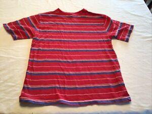 Faded Glory Boys T-Shirt Size Lg 10-12 Red Stripe