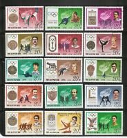 Korea SC # 1727-1741 Historic Of The Olympic Games & Winners. Set Complete . MNH