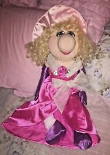 MISS PIGGY LARGE PLUSH JIM HENSON'S MUPPETS PINK DRESS PURPLE GLOVES PINK HAT