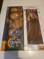 AQUARIUS JIGSAW 1000 Piece  PUZZLES  HARRY POTTER  lot of 2