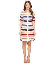 Kate Spade New York Women's Cape Stripe Shirtdress Multi Dress 10  MSRP: $398.00
