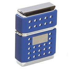 JetLine Z Torch Classic Cigar Lighter - Dual Torch Flame - Chrome and Blue - New