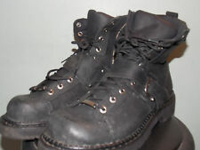 Black Leather Harley Davidson Boots w/ Side Zip Men's Size 13 Used, Barely Worn