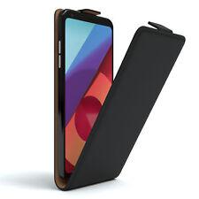 Tasche für LG Q6 Flip Case Schutz Hülle Handy Cover Schwarz
