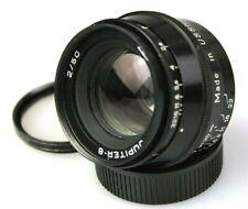 Jupiter 8 50mm F2 Lens. Leica Screw Mount Black Paint Lens. (Zeiss Sonnar Copy)