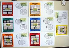 Automatenmarken 1 - FDC 2. Ausgabe Wertstufen 20, 70, 110, 130, 190, 250, 300 Pf