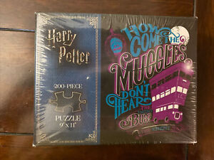 """Harry Potter """"How Come the Muggles"""" 200 Piece Puzzle by USAopoly  9"""" X 11"""" NEW"""