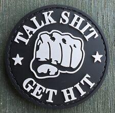 TALK SHIT * GET HIT PVC Klettabzeichen Klett Fun patch Abzeichen Sticker