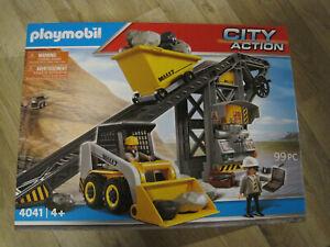 Playmobil 4041 Förderanlage mit Kompaktlader Lader Mini Bagger MAXX7 NEU in OVP