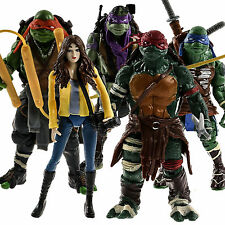 HOT 5pcs TMNT Teenage Mutant Ninja Turtles APRIL O'NEIL Action Figure Collection