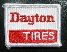"DAYTON TIRES EMBROIDERED SEW ON ONLY PATCH VINTAGE AUTO ADVERTISING  2"" x 1 1/2"""