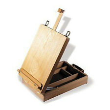 REEVES CAMBRIDGE WOODEN TABLE TOP ADJUSTABLE EASEL & ARTIST STORAGE BOX 4870145