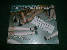 Don't Forget To Die Cardboard Lamb CD~NEW/SEALED~2012 Post-Punk~FAST SHIPPING!!!