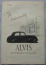 1946 Alvis Fourteen Four Light Saloon Original advert No.4