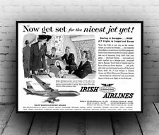 Irish Airlines : Reproduction Newspaper advert, poster, Wall art.