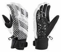 NEW $100 Leki Squared Trigger S Insulated Ski Gloves Winter Mens Black White