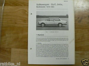 V37-VOLKSWAGEN GOLF, JETTA,SCIROCCO 1979-1983 INFO