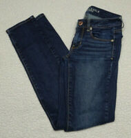 AE American Eagle Women's Skinny Stretch Jeans Size 2 Dark Wash Low Rise
