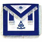 Masonic  Regalia Past Master Apron Blue With White Fringe