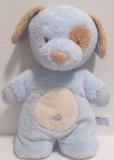 "Aurora Baby 12"" Plush Puppy Dog Stuffed Animal Nursery Toy Beanie Blue/Brown"