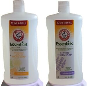 2 Arm & Hammer Essentials  Liquid Hand Soap 32oz Orange Citrus/Lavendar Vanilla