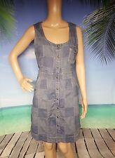 Tommy Hilfiger Lightweight Denim Summer Dress Sz 10 Snap Sleeveless Rtl $99