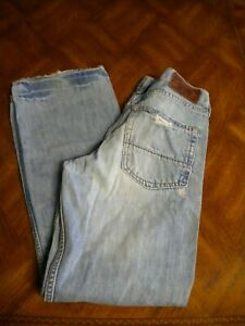RUEHL PREMIUM BLUE JEANS DISTRESSED BUTTON FLY NO.925 MERCER LOW RISE  31 X 32