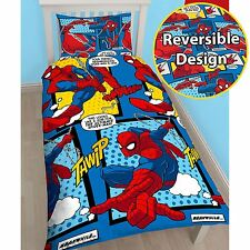 UFFICIALE SPIDERMAN webhead Singolo Copri Piumone Set-ROTARY-Kids Bedding New