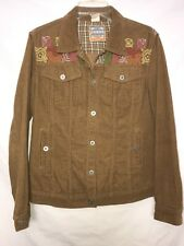 Oilily Corduroy Embroidered Jacket, Women's Size S