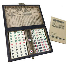Mini Portable Retro Mahjong Chinese Recreation Game 144 Tiles Mah-Jong box SET
