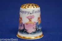 Happy Easter From The Chicks Gold Top China Thimble B/150