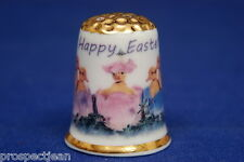 Happy Easter-Have A Cracking Good Time Gold Top China Thimble B/150