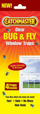 12 Catchmaster 904 Clear Bug & Fly Window Traps (3 Packs/4 Traps each) FREE SHIP