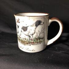 Vintage Hunting Dog Mug English Pointer Brown Speckled Cup