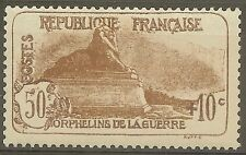 """FRANCE STAMP TIMBRE 230 """" ORPHELINS LION DE BELFORT 50c+10c """" NEUF xx LUXE B605"""