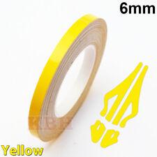 "6mm x 9.8m Pinstripe Solid Pin Stripe Tape Vinyl Decal Sticker Car 1/4"" Yellow"
