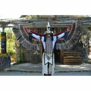 Costumes For Men Women, Indian Inspired Feathers Costume,Wings Tail Feathers