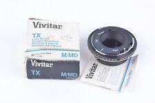 NEW VIVITAR TX MOUNT ADAPTER FOR MINOLTA MD MOUNT CAMERAS #0355232