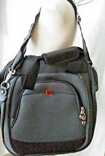 "Swiss Gear Men Gray Black Laptop Briefcase Messenger Shoulder Bag Nylon 13""x14"""