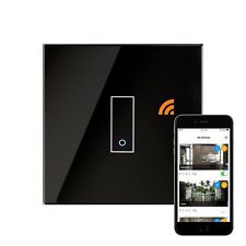 RetroTouch iotty Touch & Remote Smart Wifi Switch 1 Gang Back Glass 03501