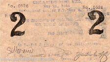Philippines 1944 Brooke's Point PALAWAN 2 Pesos S937x WW2 Paper Bill Scrip Note