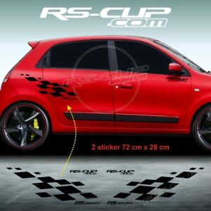 1170 RS SPORT Aufkleber RENAULT SPORT Twingo 1 2 3 seitenstreifen schwarz mat