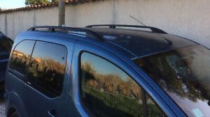 Barres de toit longitudinales Citroen Berlingo II 09/2007>2018 alu noir EN STOCK
