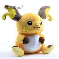 """Raichu Plush Soft Toy Stuffed Animal Doll Teddy 8"""" Children Collect Gift"""