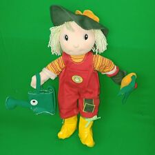 MAGGIE RAGGIES RED OVERALLS GARDEN GARDENING CARROT PLUSH STUFFED DOLL