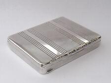 SPLENDID ANTIQUE AUSTRIAN SOLID SILVER BOX CASE c1900