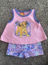 Vintage Disney Lion King 2 Piece Girls Outfit Size 2T